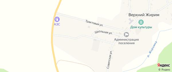 Трактовая улица на карте села Верхнего Жирима с номерами домов