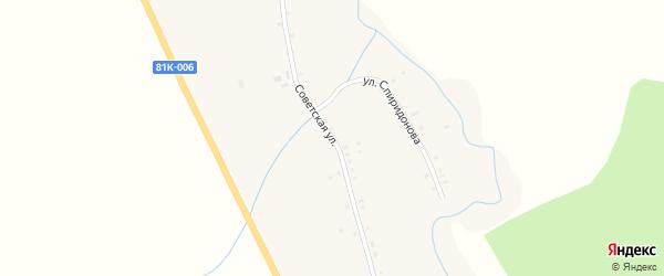 Советская улица на карте села Верхнего Жирима с номерами домов