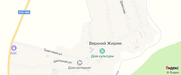 Молодежная улица на карте села Верхнего Жирима с номерами домов