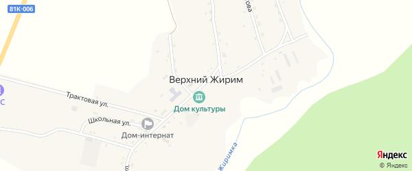 Улица Девятова на карте села Верхнего Жирима с номерами домов