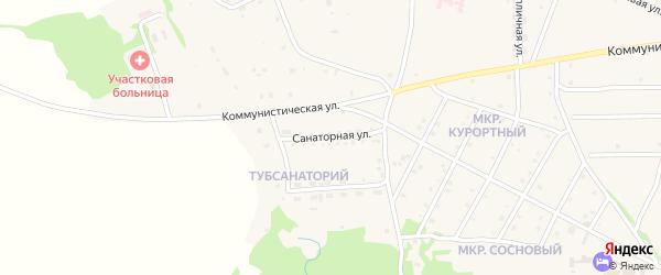 Санаторная улица на карте села Ильинки с номерами домов