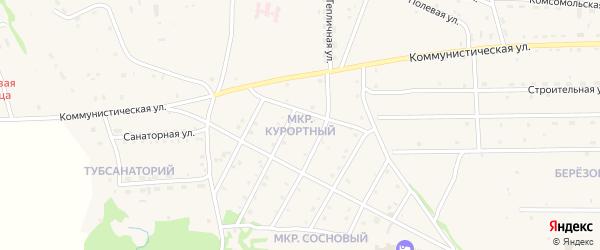 Курортный микрорайон на карте села Ильинки с номерами домов