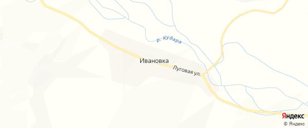 Карта села Ивановки в Бурятии с улицами и номерами домов