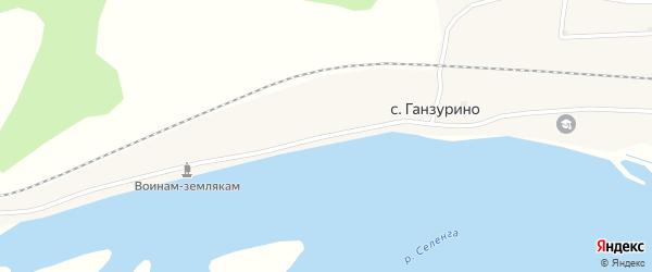 Набережная улица на карте села Ганзурино с номерами домов