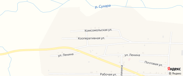 Кооперативная улица на карте улуса Цолга с номерами домов