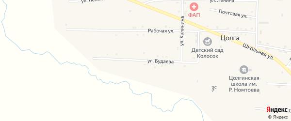 Улица Будаева на карте улуса Цолга с номерами домов