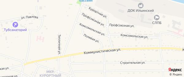 Полевая улица на карте села Ильинки с номерами домов
