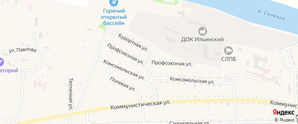 Профсоюзная улица на карте села Ильинки с номерами домов