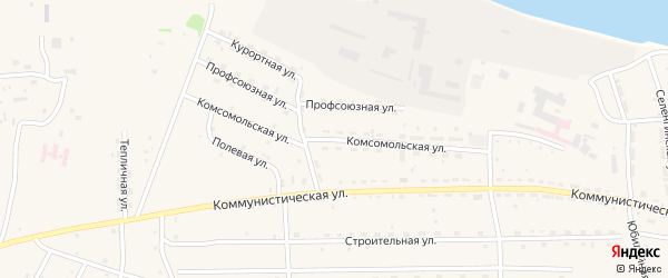Комсомольская улица на карте села Ильинки с номерами домов