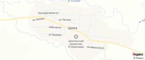 Карта улуса Цолга в Бурятии с улицами и номерами домов