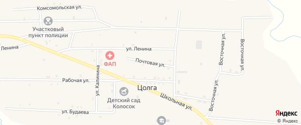 Почтовая улица на карте улуса Цолга с номерами домов