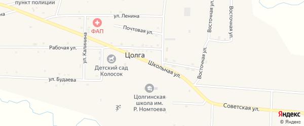 Школьная улица на карте улуса Цолга с номерами домов
