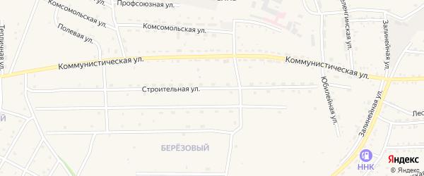 Строительная улица на карте села Ильинки с номерами домов