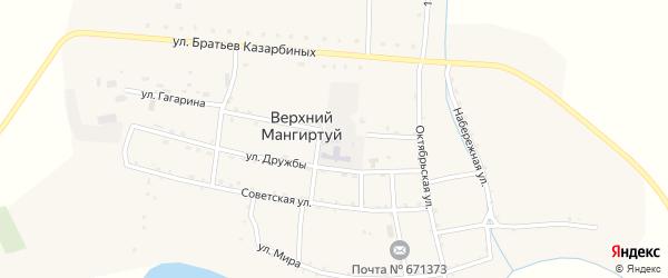 Улица Мира на карте села Верхнего Мангиртуя с номерами домов