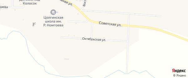 Октябрьская улица на карте улуса Цолга с номерами домов