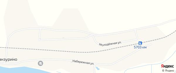 Молодежная улица на карте села Ганзурино с номерами домов