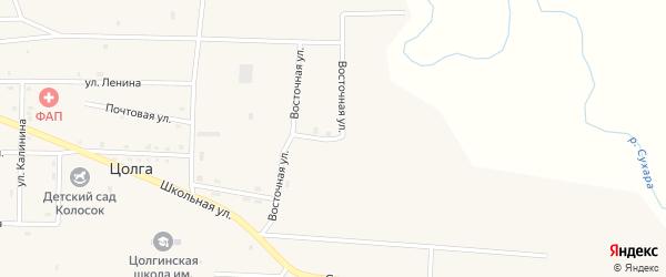 Восточная улица на карте улуса Цолга с номерами домов