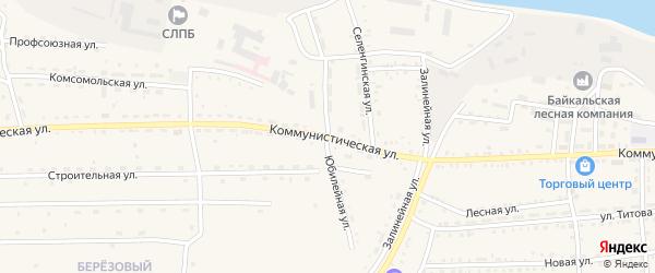 Юбилейная улица на карте села Ильинки с номерами домов