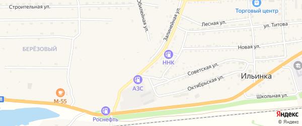 Железнодорожная улица на карте поселка Таловки с номерами домов
