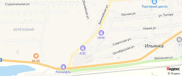 Железнодорожная улица на карте села Ильинки с номерами домов
