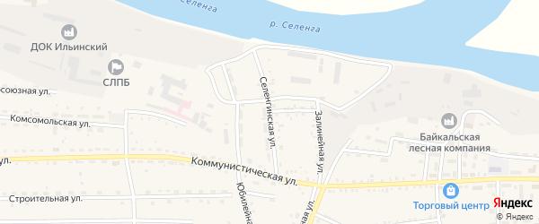 Селенгинская улица на карте села Ильинки с номерами домов