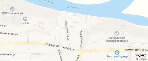 Селенгинский переулок на карте села Ильинки с номерами домов