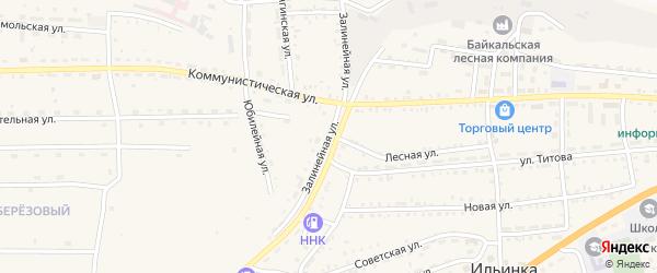Залинейная улица на карте села Ильинки с номерами домов