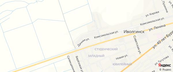 Территория КСП Халюта на карте села Иволгинск с номерами домов