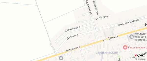 Цветочная улица на карте территории ДНТ Халюты с номерами домов