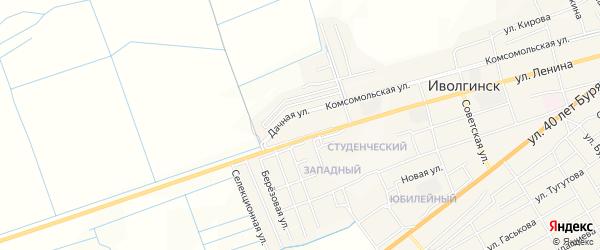 Территория ДНТ Янтарь на карте села Иволгинск с номерами домов