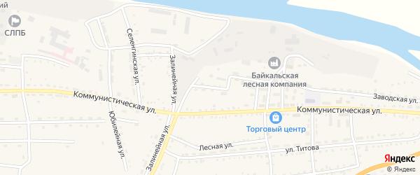 Клубная улица на карте села Ильинки с номерами домов