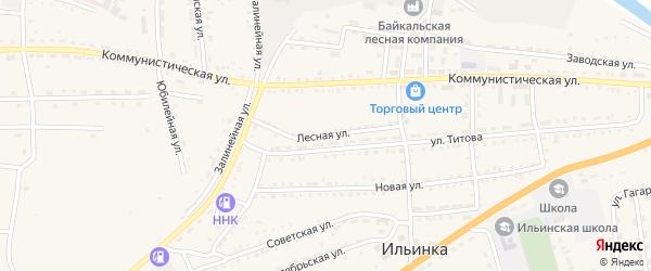 Лесная улица на карте села Ильинки с номерами домов