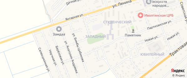 Студенческий квартал на карте села Иволгинск с номерами домов