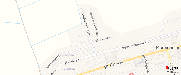 Набережная улица на карте села Иволгинск с номерами домов