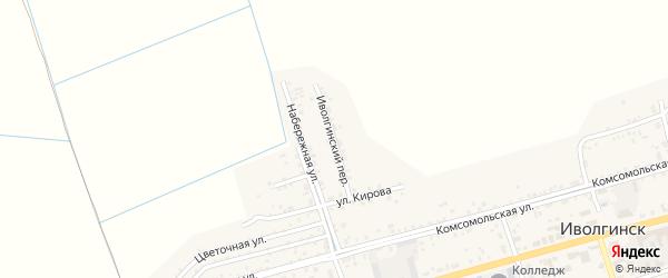 Иволгинский переулок на карте села Иволгинск с номерами домов