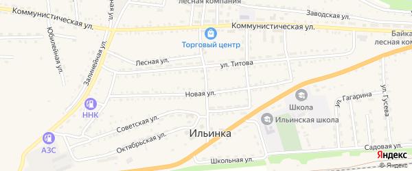 Орсовский переулок на карте села Ильинки с номерами домов