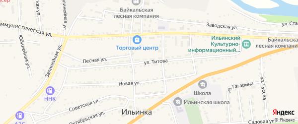 Улица Титова на карте села Ильинки с номерами домов