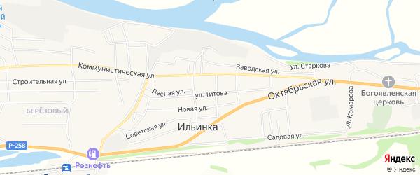 Карта села Ильинки в Бурятии с улицами и номерами домов