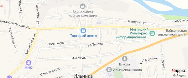 Микрорайон Медсклады на карте села Ильинки с номерами домов