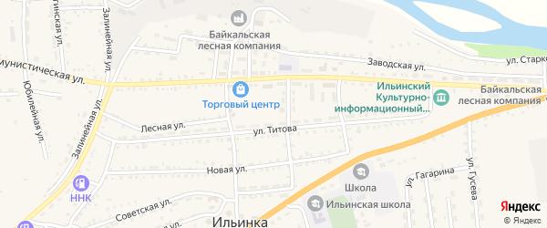Микрорайон Склады ГО на карте села Ильинки с номерами домов