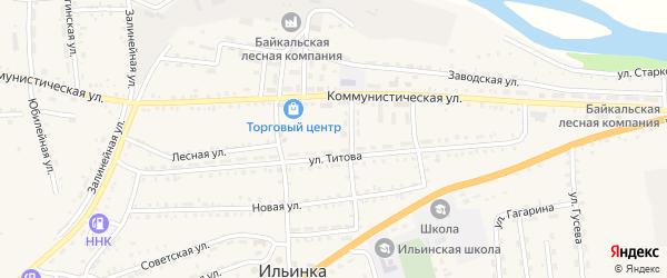 Западный микрорайон на карте села Ильинки с номерами домов