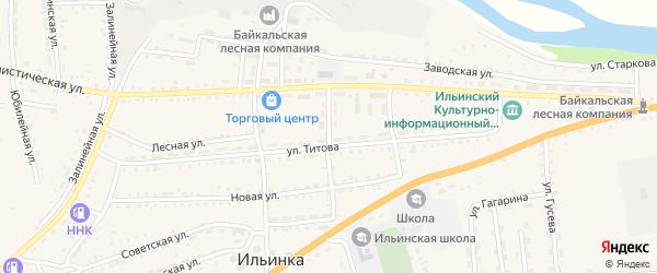 Клубный переулок на карте села Ильинки с номерами домов