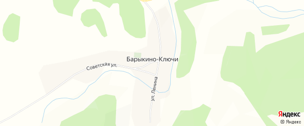 Карта села Барыкино-Ключи в Бурятии с улицами и номерами домов