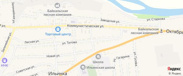 Школьный переулок на карте села Ильинки с номерами домов