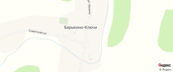 Улица Ленина на карте села Барыкино-Ключи с номерами домов