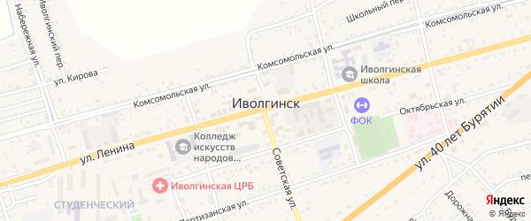 Набережный переулок на карте села Иволгинск с номерами домов
