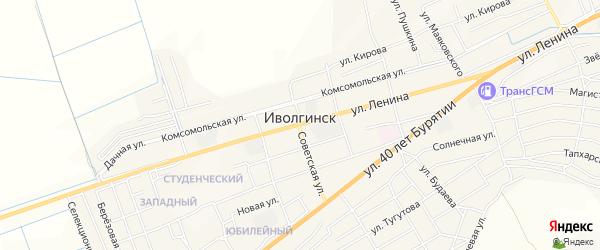 Карта села Иволгинск в Бурятии с улицами и номерами домов
