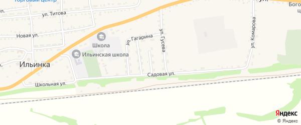 Улица Аюшеева на карте села Ильинки с номерами домов