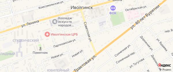 Партизанская улица на карте села Иволгинск с номерами домов