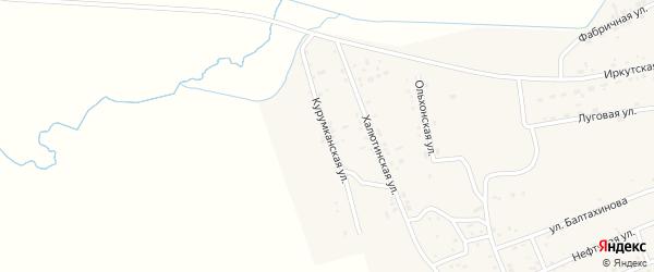 Курумканская улица на карте села Иволгинск с номерами домов